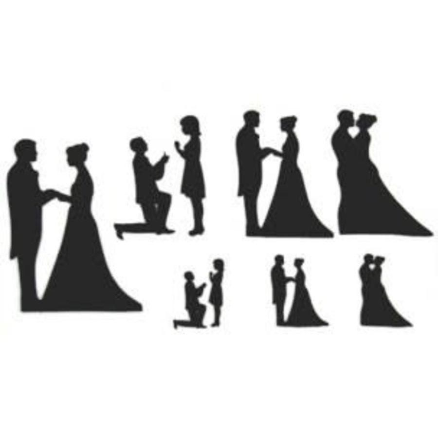 Patchwork Cutter Wedding Silhouette Set-1