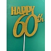 Happy 60th topper goud