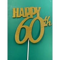 thumb-Happy 60th topper goud-1