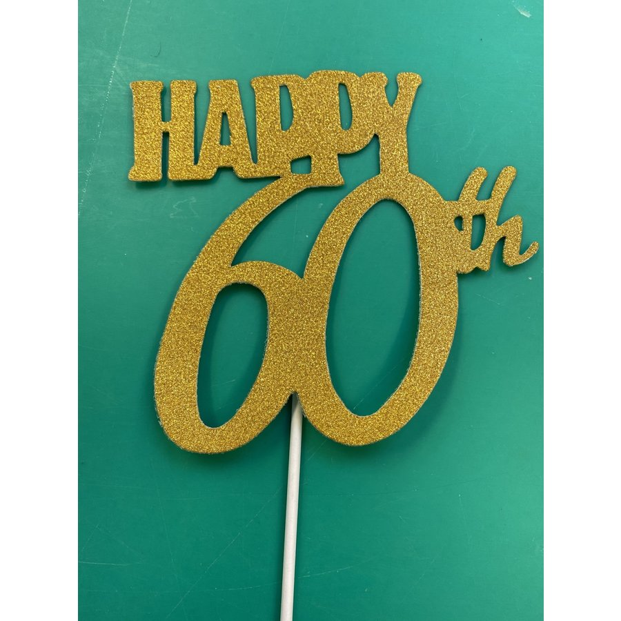 Happy 60th topper goud-3