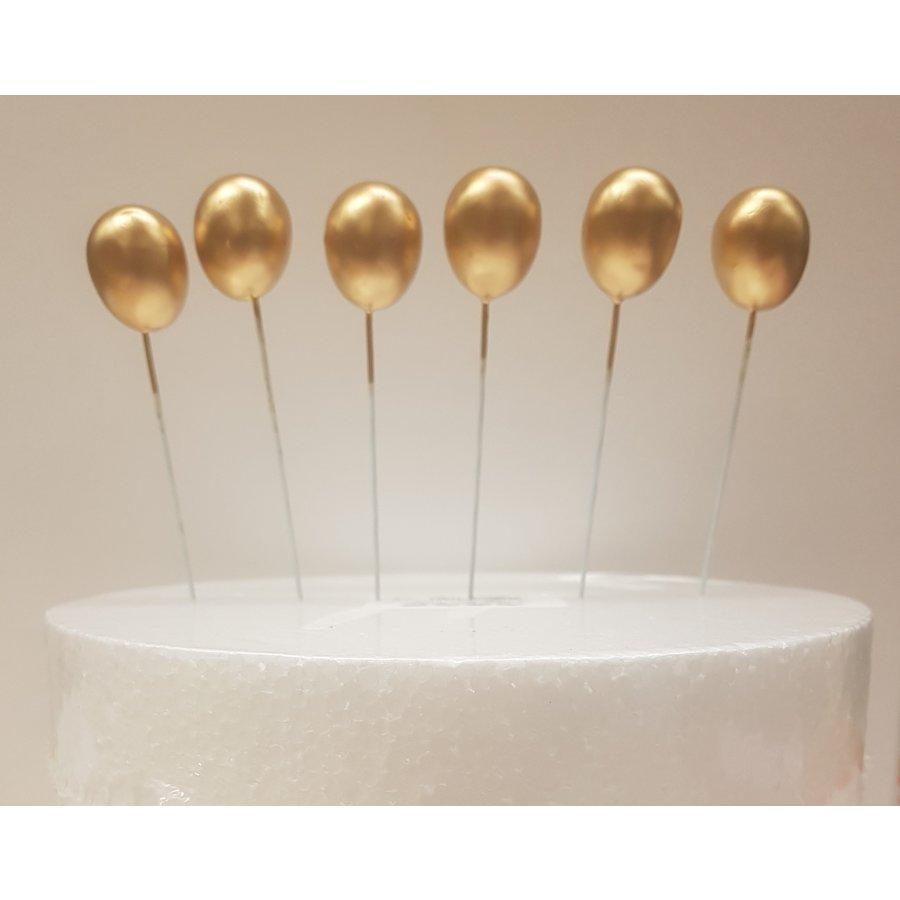 Ballonnen prikkers 3D goud-1