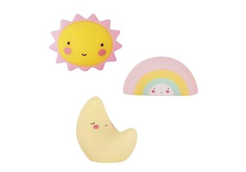 ALLC Mini Cake topper maan zon regenboog Set/3