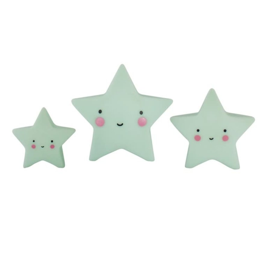 ALLC Mini Cake Topper Sterren Mint Set/3-1