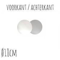 Taartonderzetter Wit / Zilver Ø18 cm per stuk