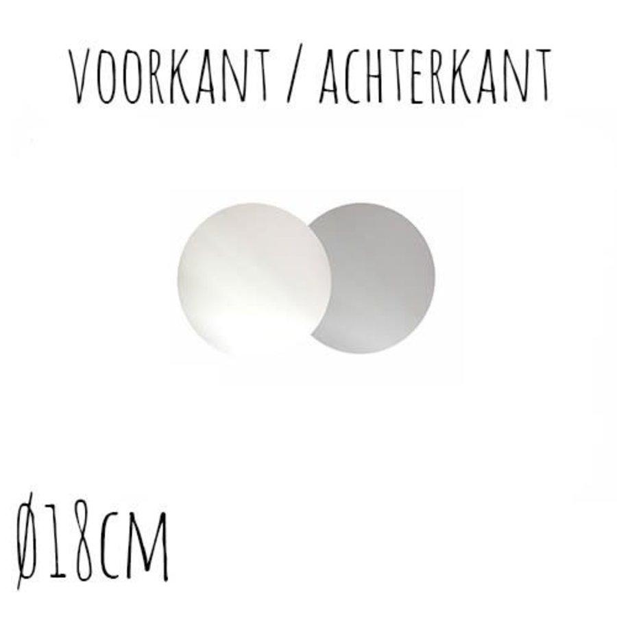 Taartonderzetter Wit / Zilver Ø18 cm per stuk-1