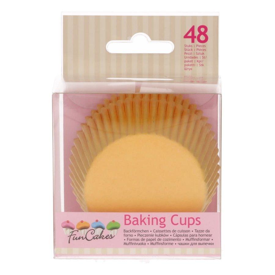 FunCakes Cupcakevormpjes geel pk/48-2