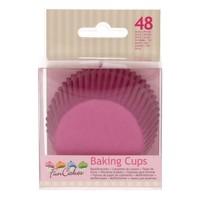 Cupcakevormpjes roze pk/48