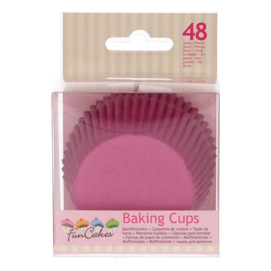 Cupcakevormpjes roze pk/48-1