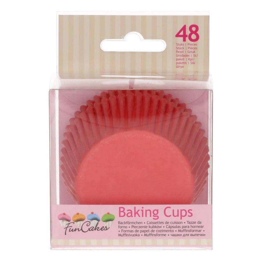 FunCakes Cupcakevormpjes rood pk/48-1