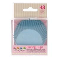 FunCakes Cupcakevormpjes licht blauw pk/48