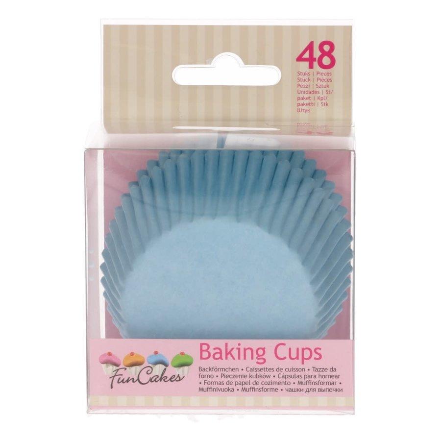 FunCakes Cupcakevormpjes licht blauw pk/48-1