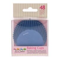 thumb-FunCakes Cupcakevormpjes royal blauw pk/48-1