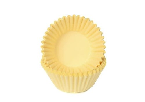 House of Marie Chocolade Baking Cups Pastel Geel