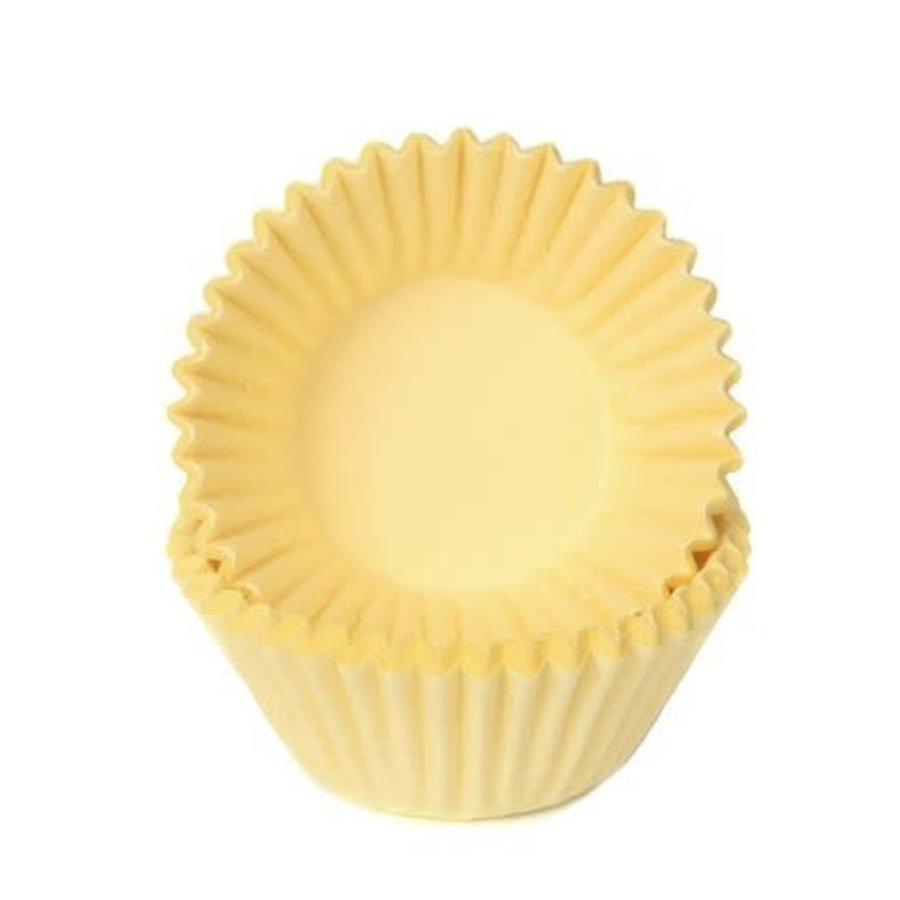 House of Marie Chocolade Baking Cups Pastel Geel-1