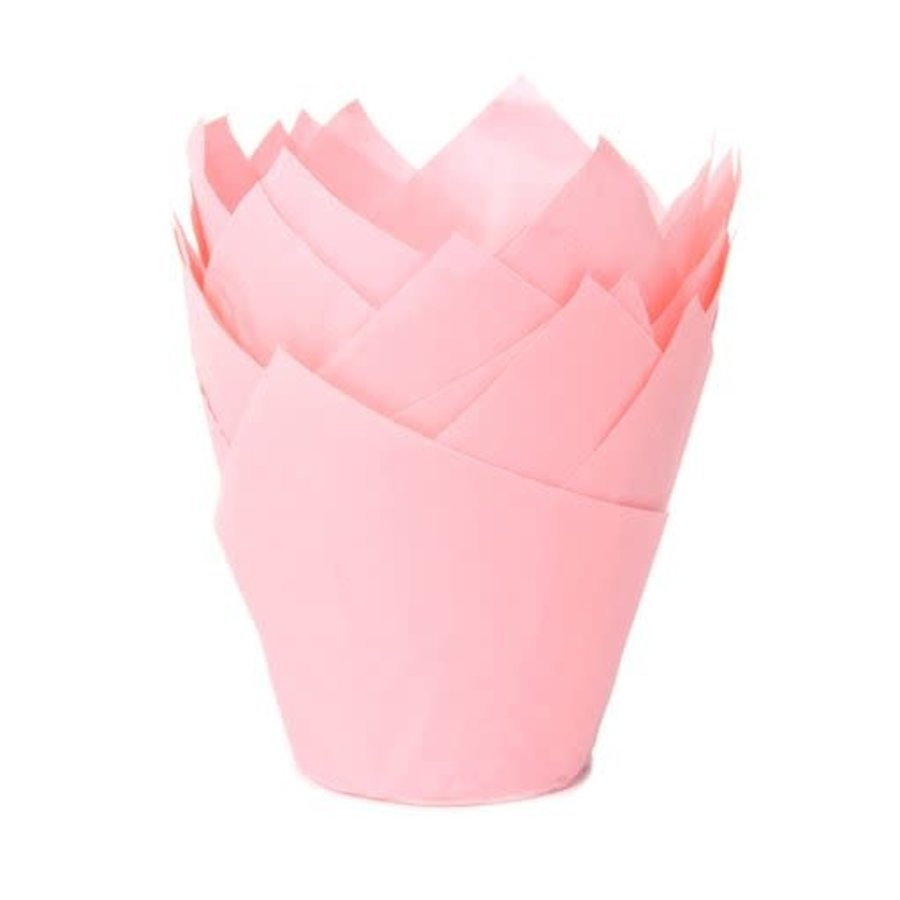 House of Marie Muffin Cups Tulp Baby Roze pk/36-1