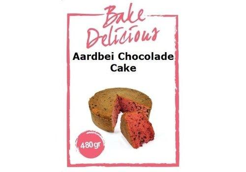 Aardbei chocolade cake