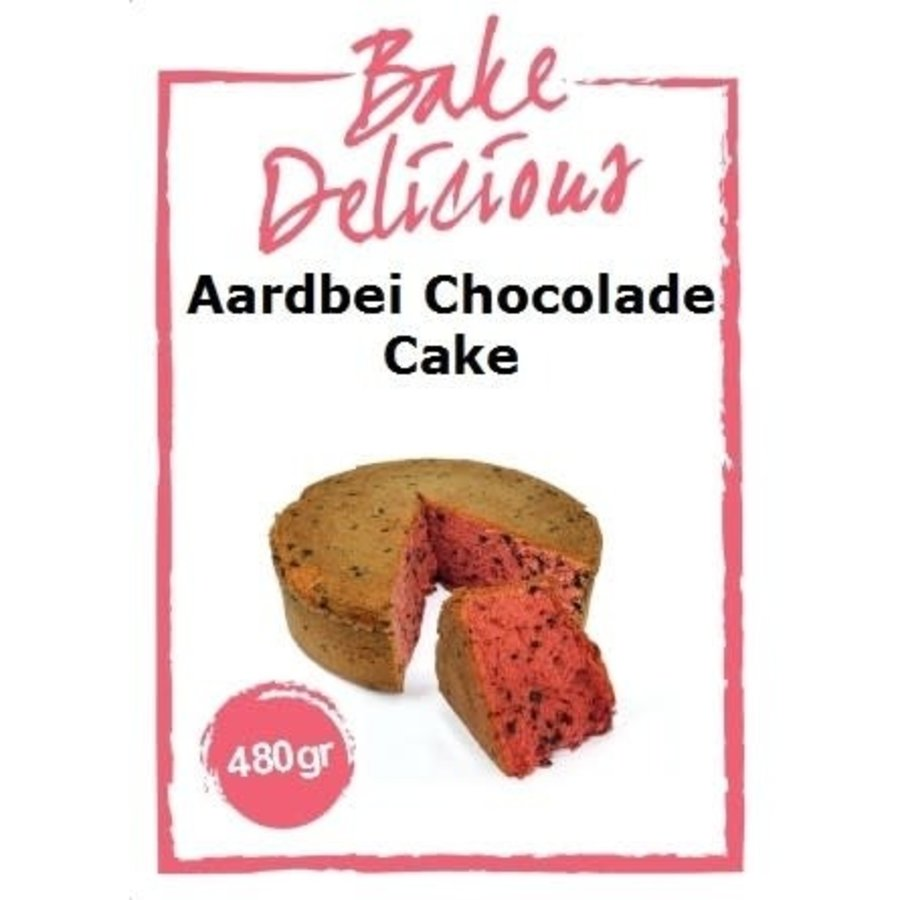 Aardbei chocolade cake-2