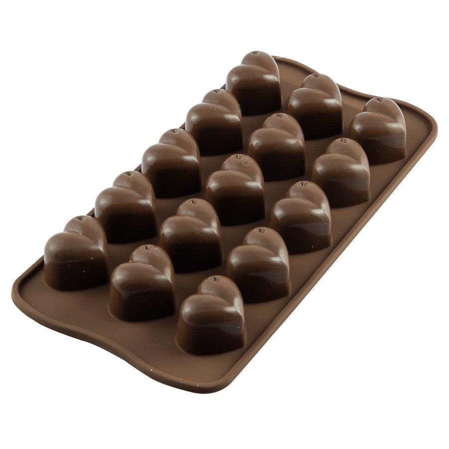 Silikomart Chocoladevorm Hartjes-1