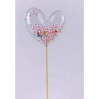 glitter prikker hart parel 6cm