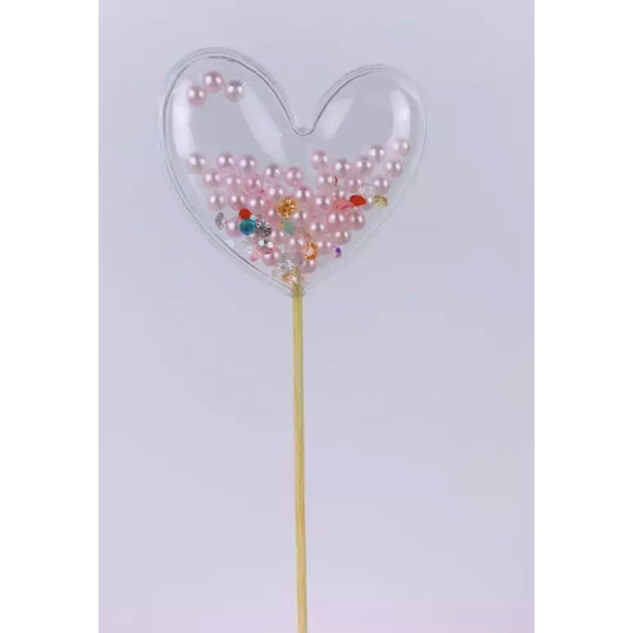 glitter prikker hart parel 6cm-1