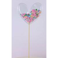 glitter prikker hart 7cm