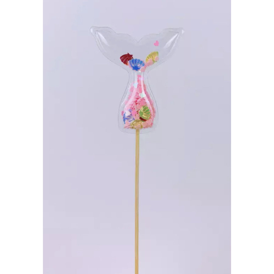 glitter prikker zeemeermin roze 5cm-1