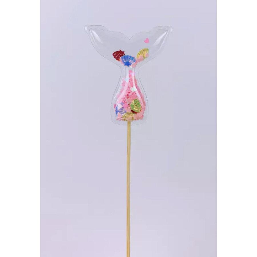 glitter prikker zeemeermin roze 5cm-2
