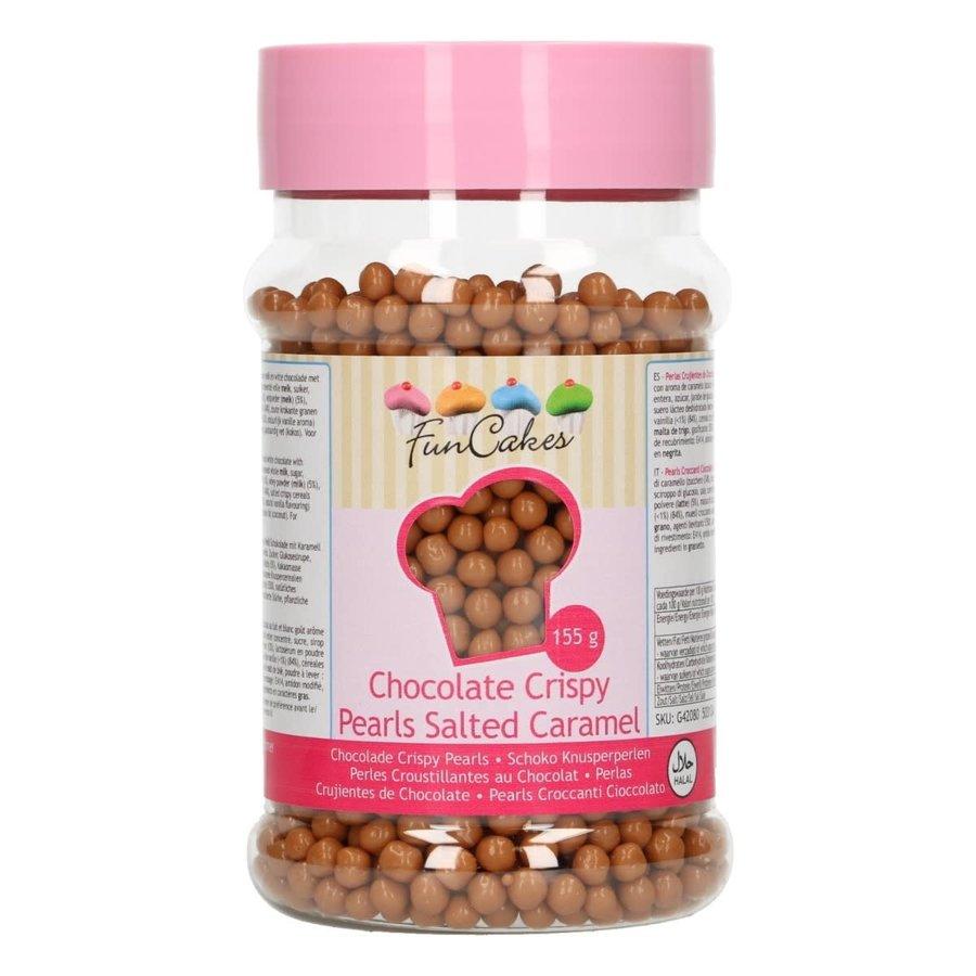 FunCakes Chocolade Crispy Pearls Salted Caramel 155g-1