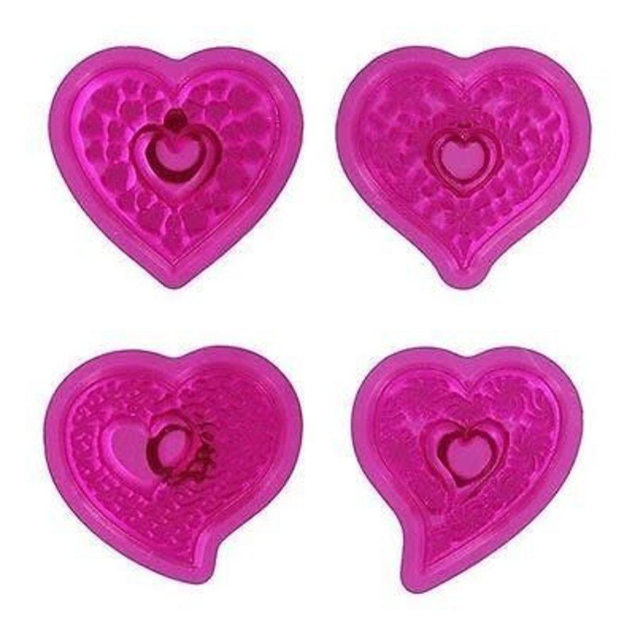 Fantasy Hearts Cupcake Tops Set/4 JEM-1