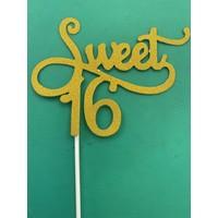 Sweet 16 topper goud