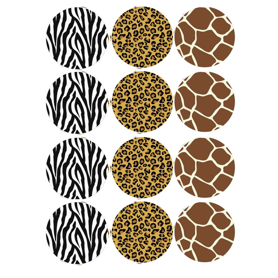 cupcake print jungle dieren print-1