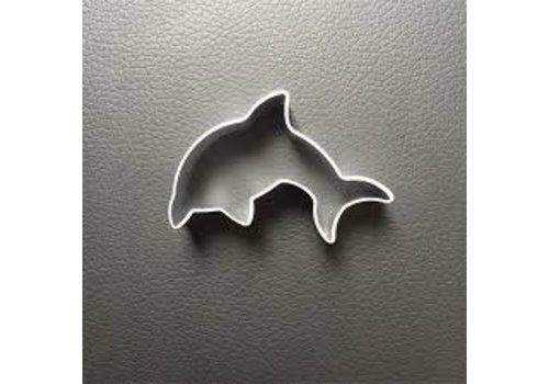 Dolfijn koekjesvorm aluminium