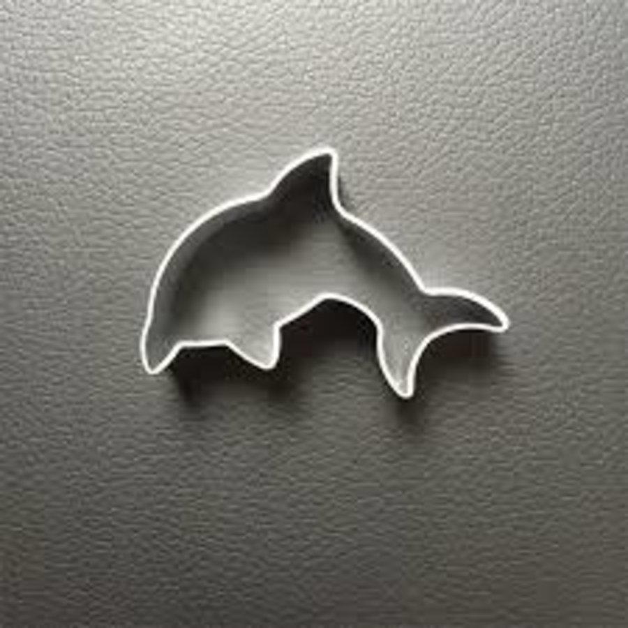 Dolfijn koekjesvorm aluminium-1