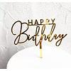 happy birthday topper streep goud