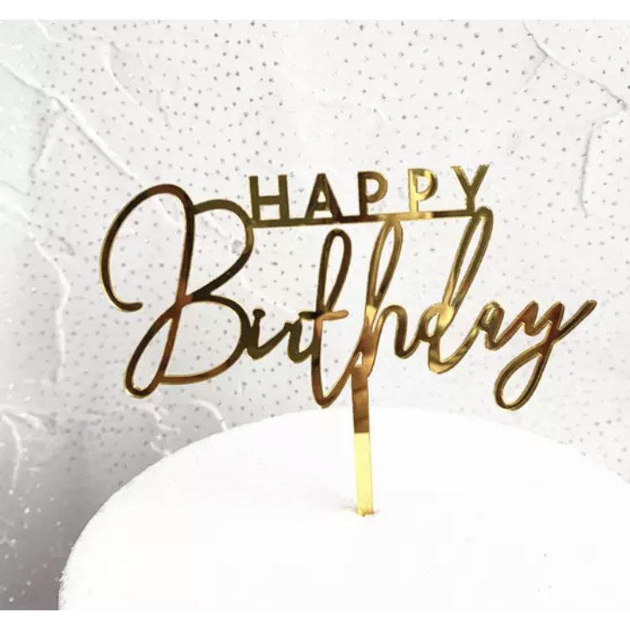 happy birthday topper streep goud-1