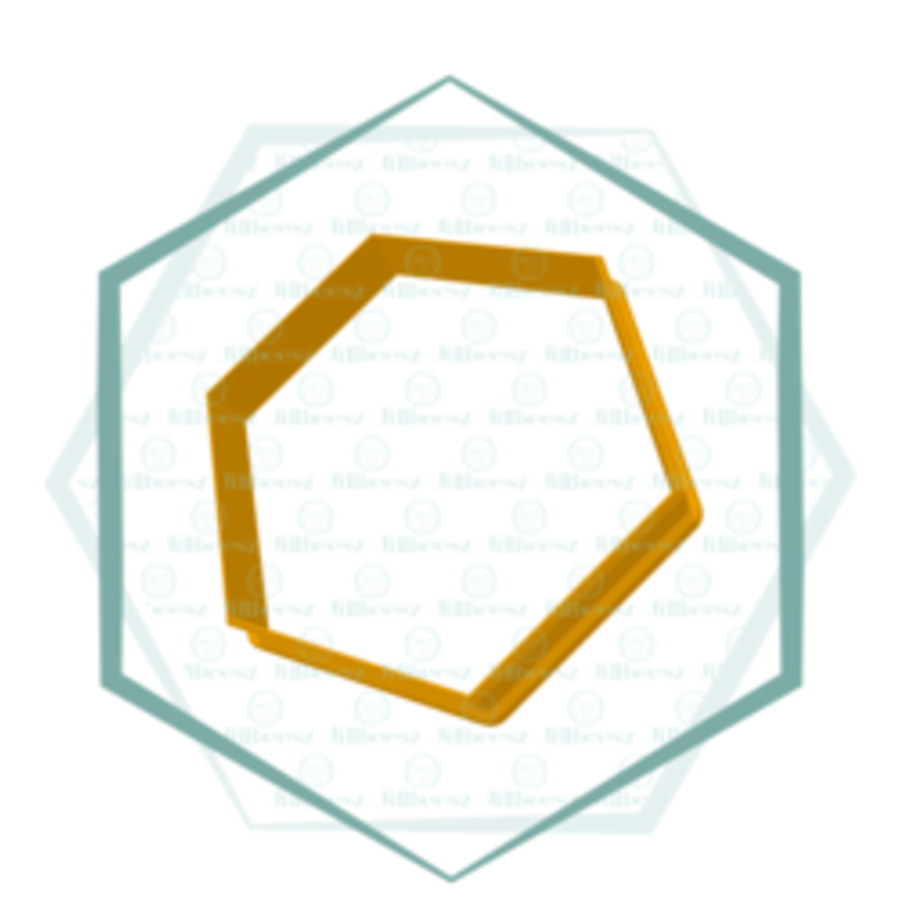 Hexagon, Jillbeesz 4,5x4,5 cm-1