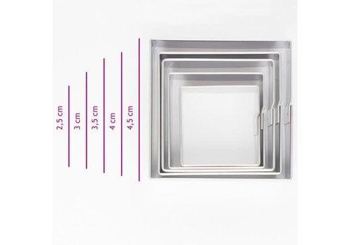Koekjes Uitsteker Vierkant set/5