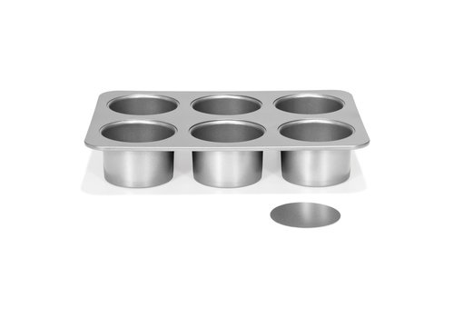 Patisse Silver-Top Mini Cheesecakevorm Losse bodem 6 vaks Ø8