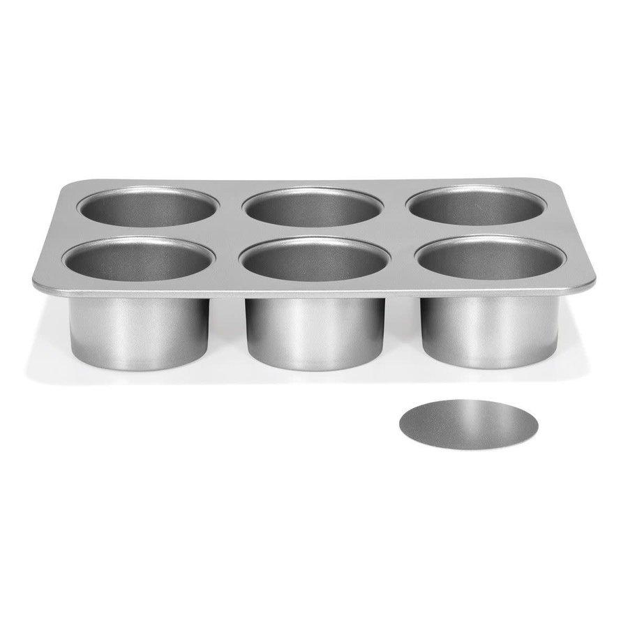 Patisse Silver-Top Mini Cheesecakevorm Losse bodem 6 vaks Ø8-1