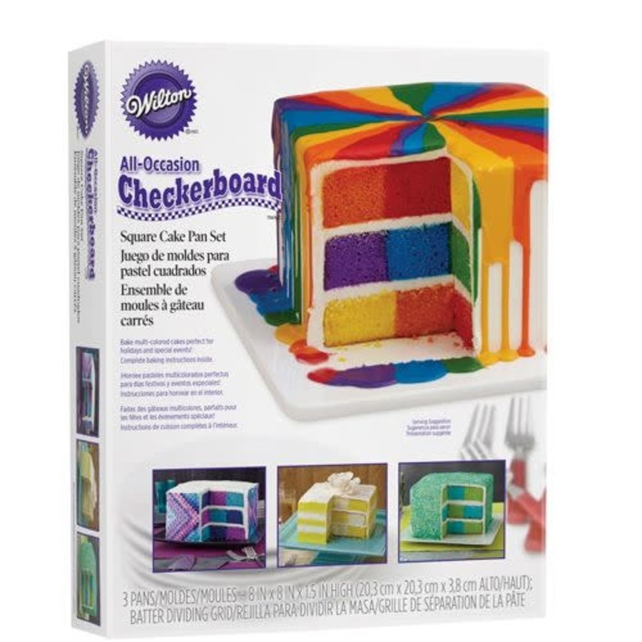 Wilton Checkerboard Square Cake Set-1
