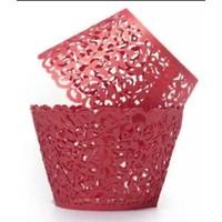 cupcake wrapper kant look rood 10 stuks