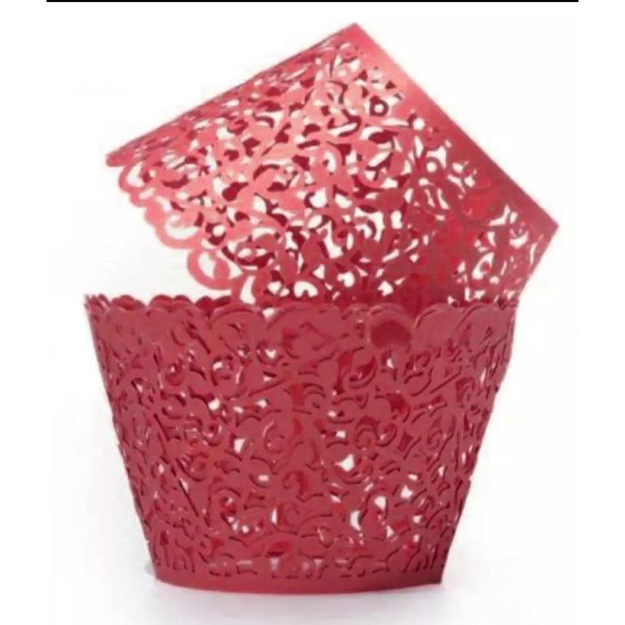cupcake wrapper kant look rood 10 stuks-1