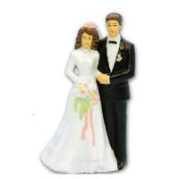 bruidspaar kunststof 12cm