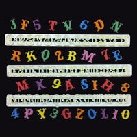 Alfabet & Cijfer Tappit Uitsteker Set - Hoofdletters - Carnaval / circus