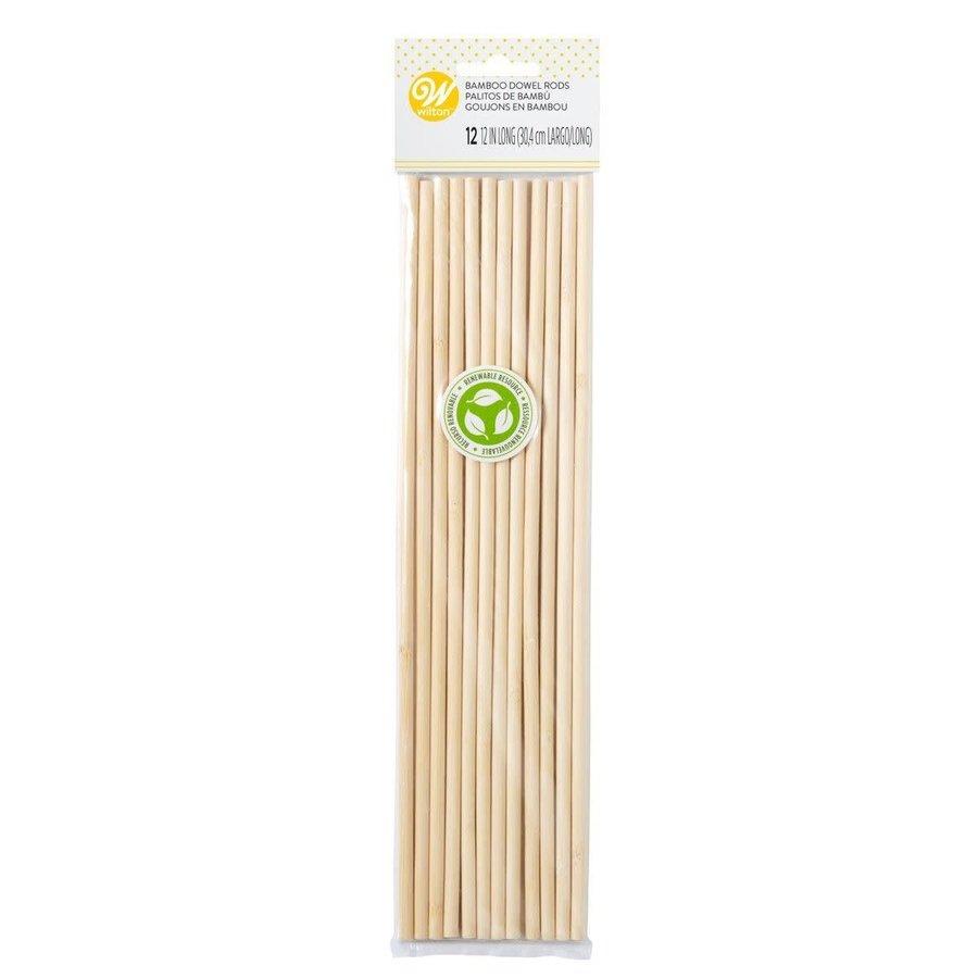 Bamboe Dowel Stokjes set/12 door Wilton-1