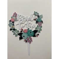 Topper bride to be wit acryl