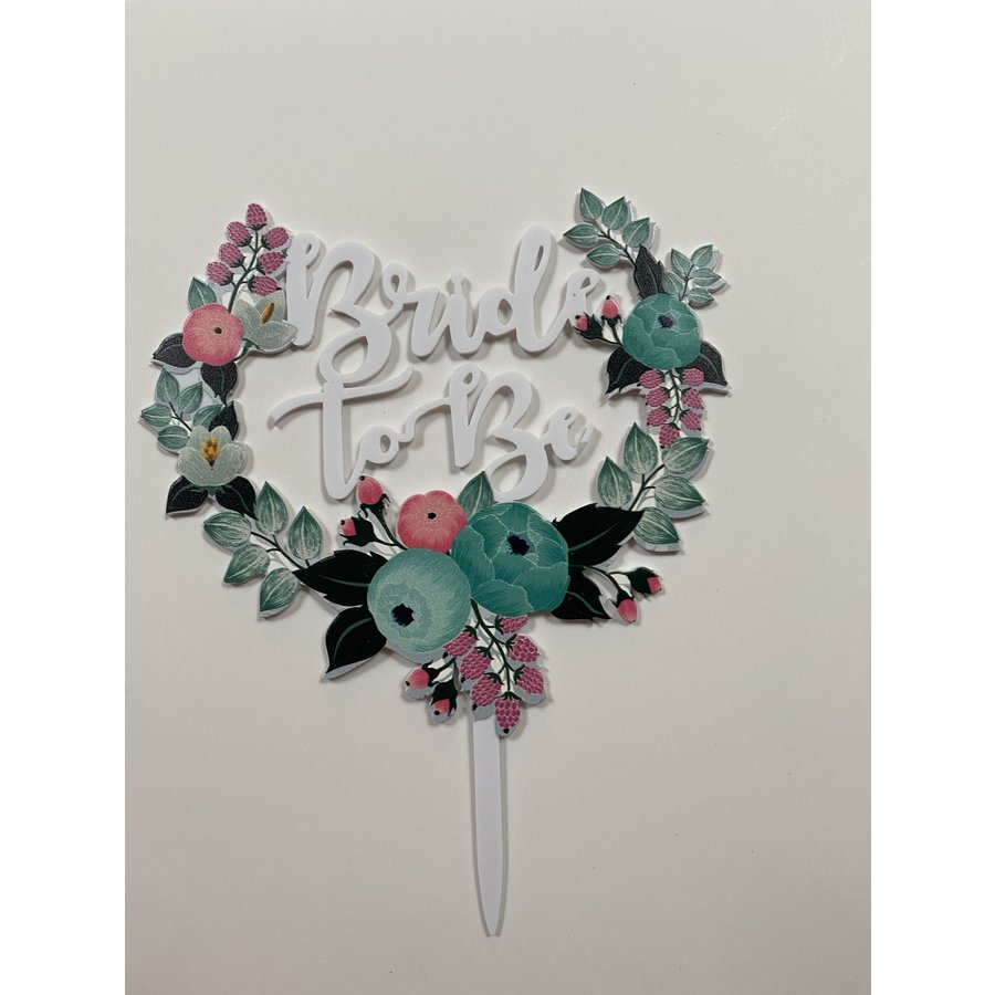 Topper bride to be wit acryl-1