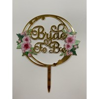 Topper bride to be rond acryl
