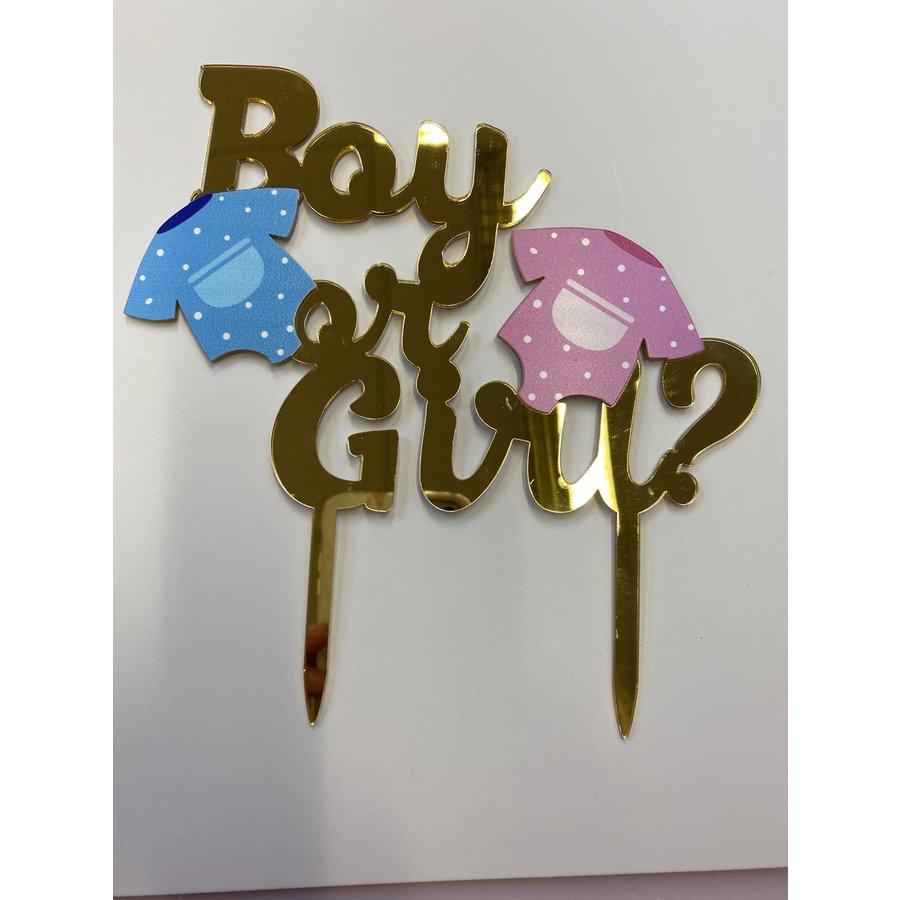Topper boy or girl acryl-1