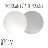Taartonderzetter Wit / Zilver Ø30 cm per stuk